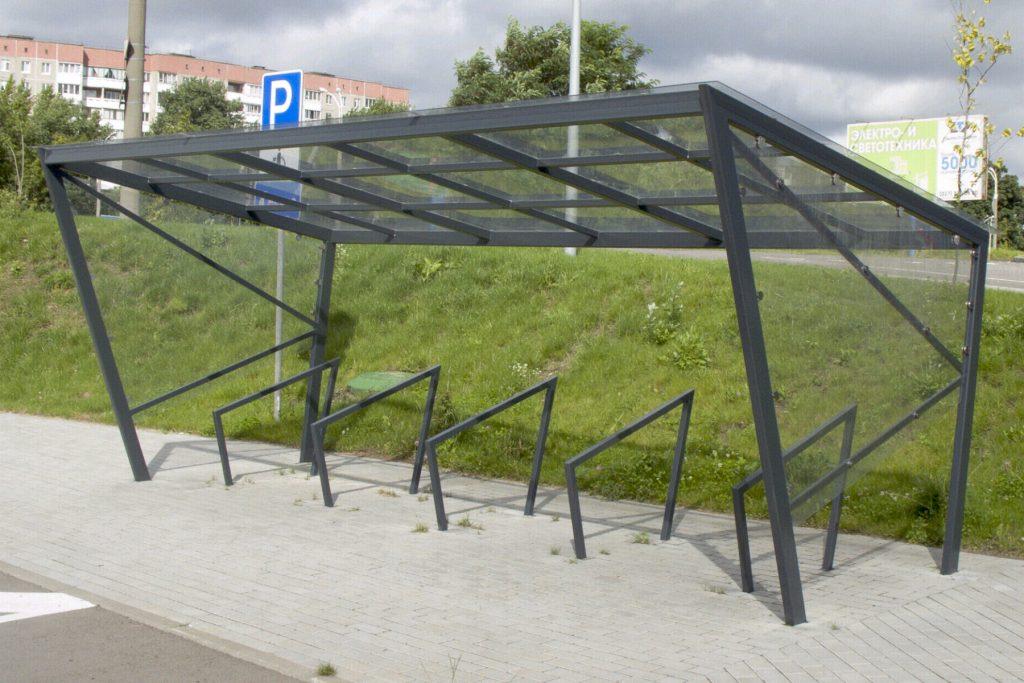 Велопарковка с навесом_1